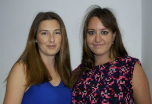 Amy Brown (l) and Leanne Wookey