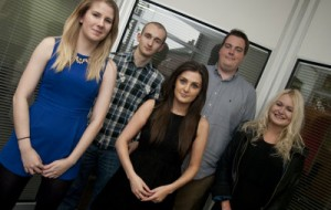 New staff (l to r) Ursula Hutchinson, Richard Frost, Emma Kay-Flowers, Rick Hollister and Beckie Stewart