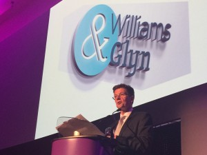 Williams & Glyn chief executive John Maltby gives his address