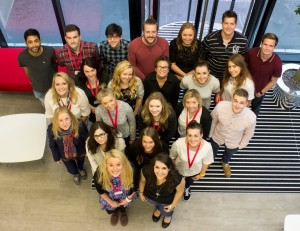 Some of MediaCom Manchester's graduate intake