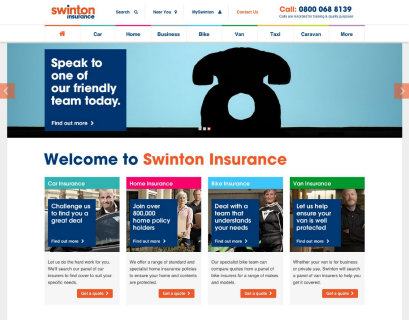 Swinton's new website