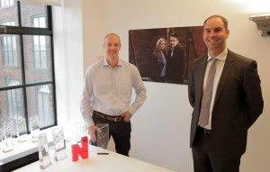 True North's Marc Allen (left) with John Duncan of Superconnected Leeds Bradford