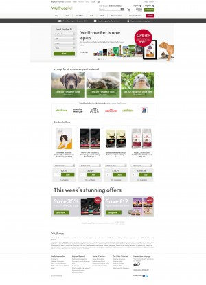Waitrose Pet Homepage