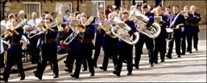 A recent picture of the Fairey Band in action