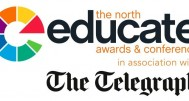 Educate the North logo with Telegraph