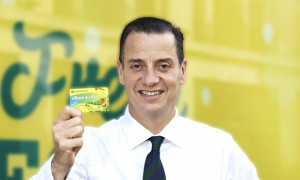 Morrisons chief executive Dalton Philips launches the loyalty card