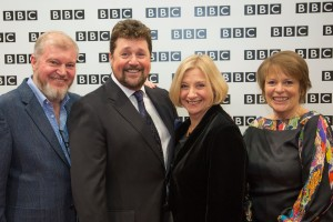 Victoria Wood and Michael Ball with producers Hilary Bevan Jones and Paul Frith