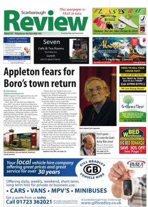 A recent Scarborough Review front cover