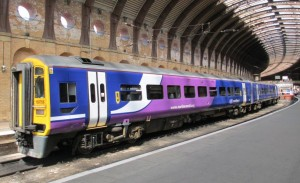 A Northern Rail train at York station