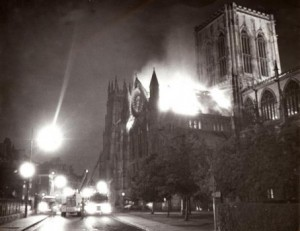 One of Mitch's pictures of the Minster fire. Image: York Press