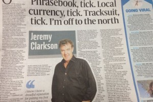 Clarkson's column in yesterday's Sunday Times
