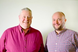 Stephen Dudley (right) with chief executive John Morgan