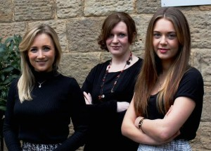(l to r) New recruits Helen Simpson, Helen Cooper and Sophie Gannon