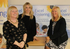 Just R's Rachael Browne (middle) with Excel owners Michelle Cuffe and Felicity Lacey