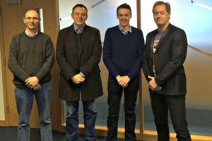 (left to right) Former Cloudspotting owners Andrew Boobier and Jon Swales with head of digital Kevin Martindale and group MD Steve Harvey-Franklin