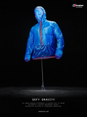 Love's 'Defy Gravity' creative for Berghaus