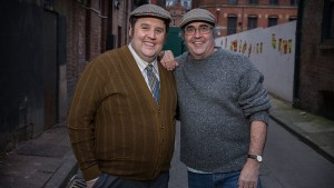 Peter Kay (left) and Danny Baker star in Cradle to Grave
