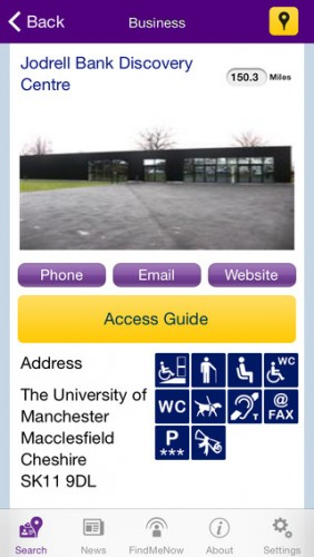 The AccessAble Uni of Manchester App