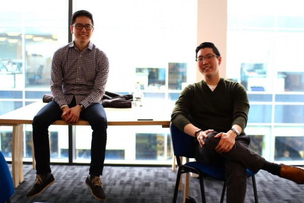 Dr Andrew Ko (right) with brother David