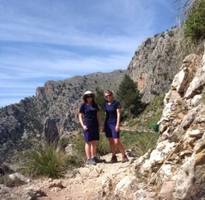 Lorna Kellett and Paige O'Grady on the Walk2Walk Mountains of Majorca tour