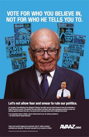 The ad from Avaaz