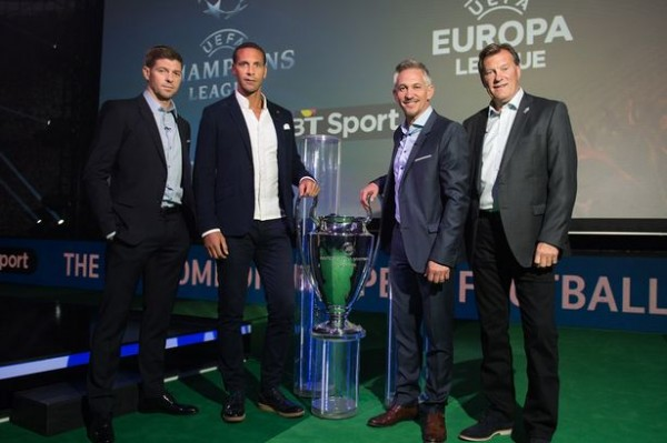 Steven Gerrard alongside Rio Ferdinand, Gary Lineker and Glenn Hoddle