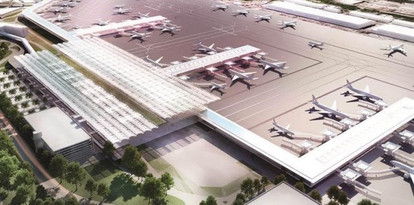 A CGI of the transformed airport
