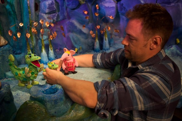 Behind the scenes on set with the Clangers at Factory