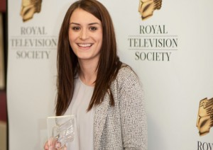 Lauren Clark with her RTS North West prize in February
