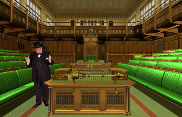 A virtual Winston Churchill in the Commons room