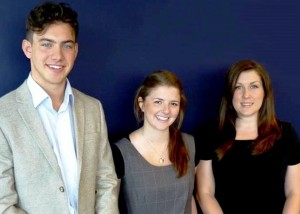 New recruits George Caton, Niamh Conway and Jo Shelbourne
