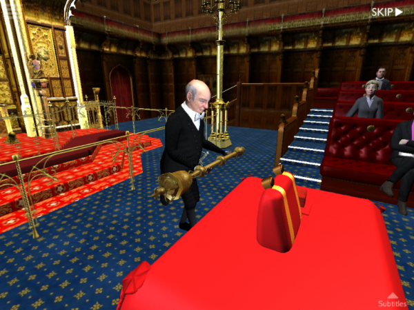 A scene from the Lords room