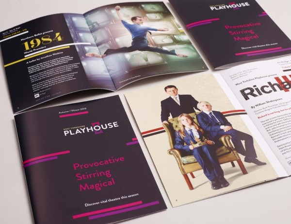 Some of Chilli's new collateral for the Playhouse
