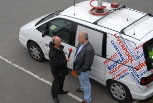 BBC Radio Merseyside broadcasting outside