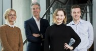 MD Andrew Spinoza (second from left) with new starters Jess Macdonald, Claire Williams and Oliver Potter