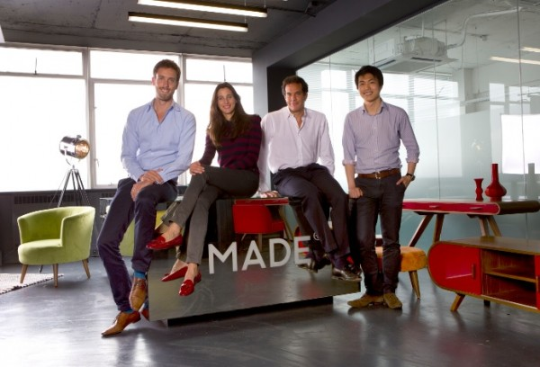 Made.com founders Julien Callede (COO), Chloe Macintosh (creative director), Brent Hoberman (chairman) and Ning Li (CEO)