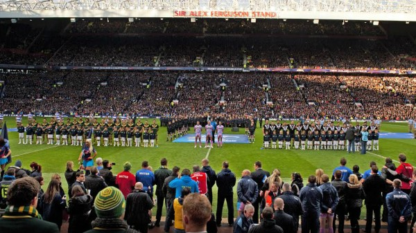 A Chant choir performs at Old Trafford at the Challenge Cup Final in 2013