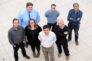 The Echo's digital team, with Steve Graves in the foreground
