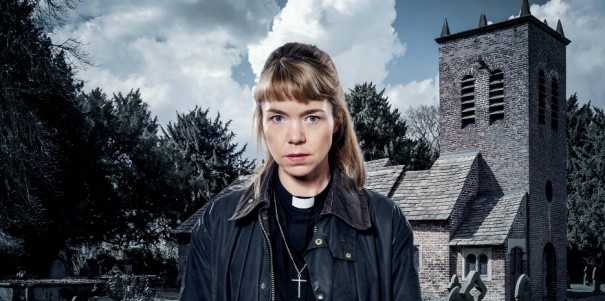 From ITV Studios  Midwinter Of The Spirit on ITV  Pictured: Rev. Merrily Watkins [Anna Maxwell Martin].  Merrily is deeply human in her doubts and scepticism, but her knowledge of the paranormal underworld brings her to the notice of local police who need her advice in the investigation of a grisly murder.  This photograph is (C) ITV Plc and can only be reproduced for editorial purposes directly in connection with the programme or event mentioned above, or ITV plc. Once made available by ITV plc Picture Desk, this photograph can be reproduced once only up until the transmission [TX] date and no reproduction fee will be charged. Any subsequent usage may incur a fee. This photograph must not be manipulated [excluding basic cropping] in a manner which alters the visual appearance of the person photographed deemed detrimental or inappropriate by ITV plc Picture Desk.  This photograph must not be syndicated to any other company, publication or website, or permanently archived, without the express written permission of ITV Plc Picture Desk. Full Terms and conditions are available on the website www.itvpictures.com  For further information please contact: james.hilder@itv.com / 0207 157 3052
