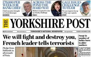 The Yorkshire Post is part of the Johnston Press portfolio