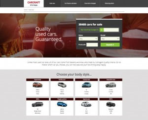 A screengrab from the new-look Carcraft site