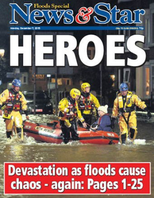The front cover of today's News & Star special edition