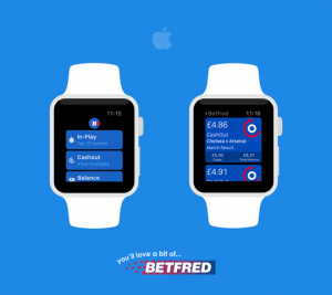 Betfred's app for the Apple Watch