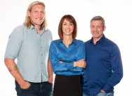 Programme Name: The Super League Show  - TX: 08/02/2016 - Episode: n/a (No. n/a) - Picture Shows: Eorl Crabtree, Tanya Arnold and Darryl Powell  - (C) BBC - Photographer: Rachel Joseph