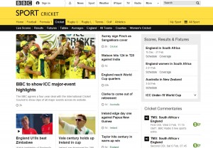 The BBC Sport website