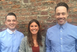 New hires Steve Denman, Steph Wilkins and Glenn Parkin