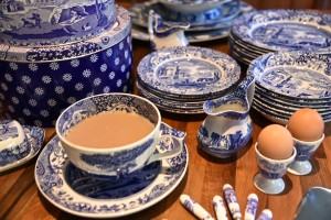 A Spode Blue Italian design tea set