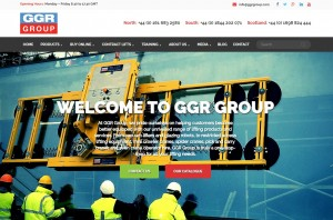 A screengrab of GGR's new website