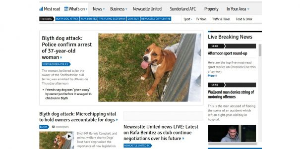 The Chronicle Live home page