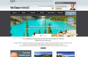 1st Class Holidays' current site